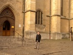 Ben in front of St. Jacob's Cathedral