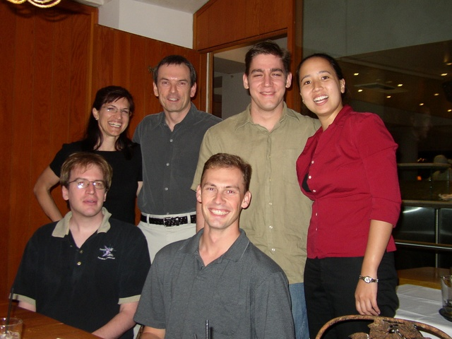 From top to bottom, left to right: Renée, Mike, Me, Pauline, Ben, Jason.