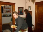 My cousin Ryan grabs some grub.  His Mom, my Aunt, Robyn, is in the background.