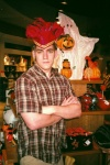 Me looking serious with a silly hat.