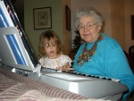 Nanna teaches Alyssa a song.