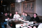 Around the table-top grill: Kyran, Michela, Jason M., Ben, Pauline, and Jason W.