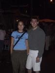 Pauline and Ben at the Seafood Market at Anse La Raye