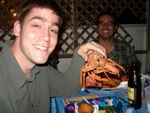 Ben and our fresh Lobster!