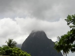 Small Piton & Clouds, View from La Haut Plantation (Upper House)
