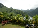 View from La Haut Plantation (Upper House), Resort Parking Lot