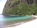 Hilton Hotel Beach Located right between the Pitons