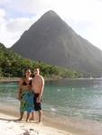 Pauline and Ben with the Big Piton in the background