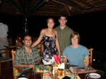Andres, Pauline, Ben and Becky having Dinner at Ladera