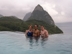 Becky, Andres, Ben in the Poll with the Pitons