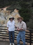 Ben and Becky at Sulfur Springs doing field work