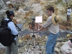 Ben and Marty at Sulfur Springs collecting data